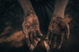 Image of dirty hands, courtesy of Chris Yang on Unsplash.